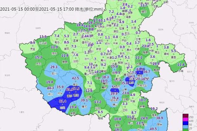大风降温来袭 今天河南全省阴天有小雨或零星小雨