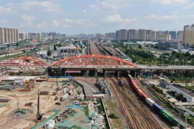 郑州彩虹桥主体正式开拆(图)