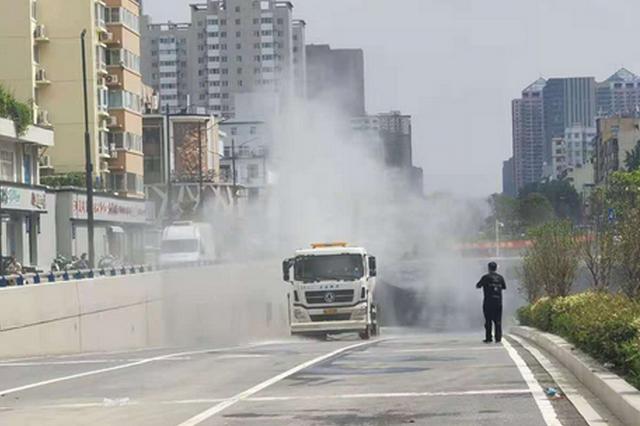 京广路隧道淮河路段已消杀三遍 郑州全市环卫行业启动汛后防疫