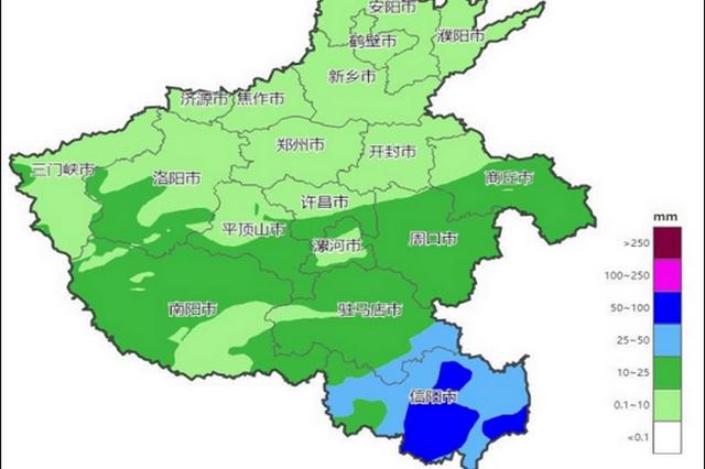 今天开始 河南省将先后出现降水和大风降温天气