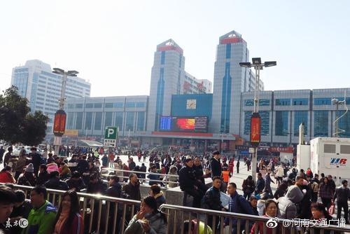 春节郑州火车站周边正值客流高峰 如何避堵看这里