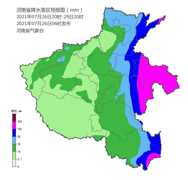 加强防范!7月26到29日河南东部北部有较强降水