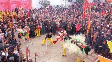 许昌长葛:传承近200年的舞狮会