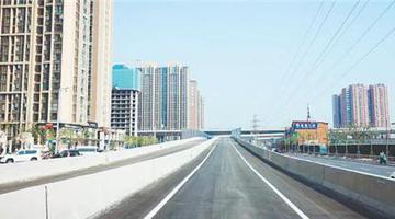 郑州农业路高架嵩山路上桥口开通