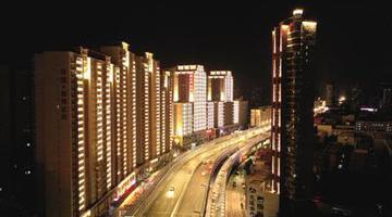 郑州二七区270栋楼体灯光开始联调联试