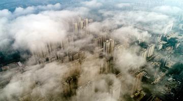 洛阳现雾景奇观 雾气飘渺城市宛如仙境