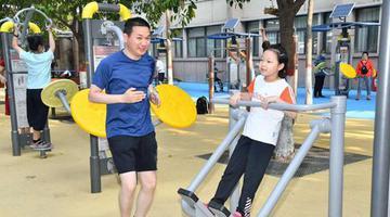 河南省体育场室外健身场地恢复开放