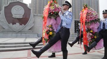 河南公安厅举行公安英烈纪念活动