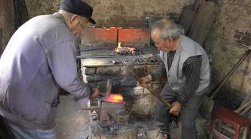 """郑州83岁老翁携67岁弟弟""""锻刀"""""""