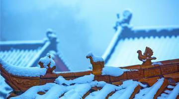 平顶山鲁山:古寺雪韵