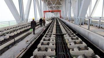 鄭濟鐵路鄭州黃河特大橋建設進展