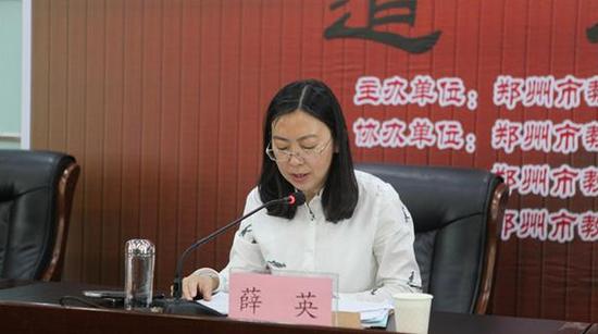 市教育局编制人事处处长薛英强调考务人员工作纪律