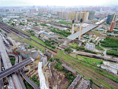 郑州农业路高架郑北大桥最后一