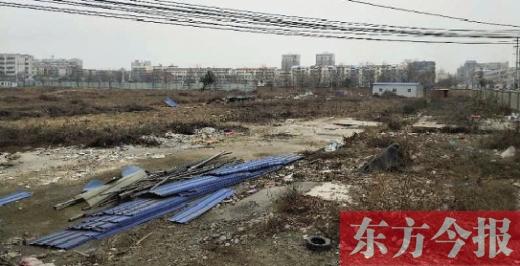 淮阳县清华园项目所在地,目前还是一片荒地