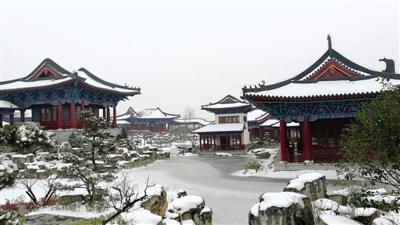 雪后园博园 郑报融媒记者 马健 图