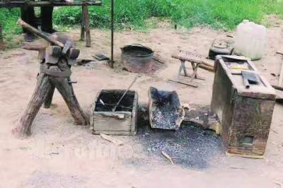 王寨乡郑铁村的铁匠炉遗址
