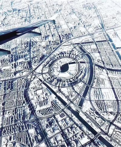 鸟瞰郑州CBD(网络图片)