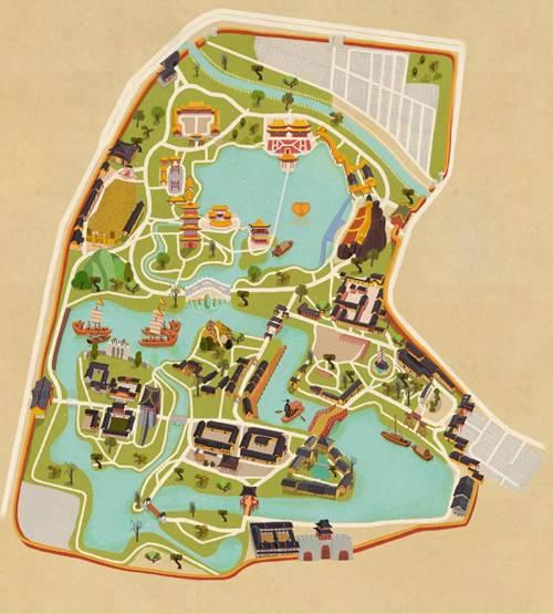 清明上河园打造手绘地图版游园秘笈