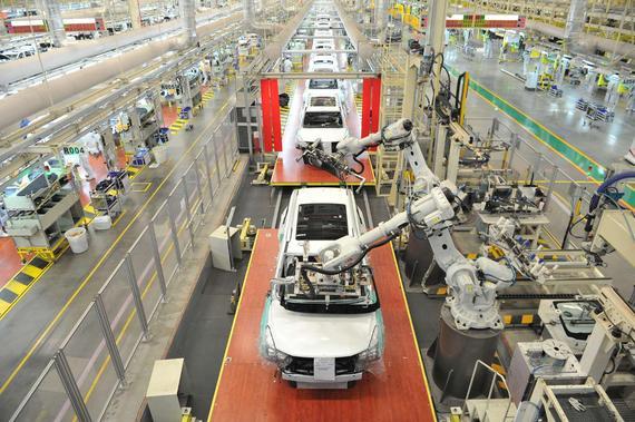 """广汽传祺宜昌工厂计划将打造成为高质量、高效率、节能环保的""""智能制造""""标杆工厂"""