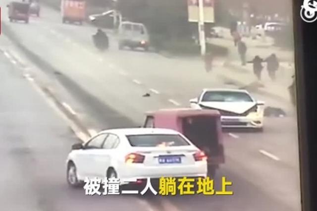 男子驾车疯狂撞死前妻
