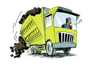 二七区俩月立案处罚38台违规渣土车 已开110万罚单