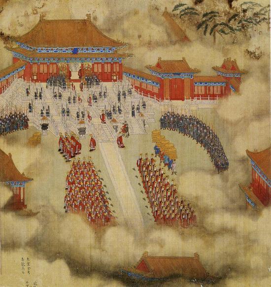 《徐显卿宦迹图》中的明代皇极殿。