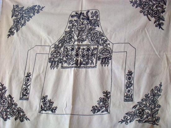 历史源流(藏族编织、挑花刺绣工艺)   嘉绒藏族织绣技艺传承有着悠久的历史,尤其是纺织技艺传承至少可以追溯到新石器时代。据《丹巴县中路罕额依遗址发掘简报》载,在这个新石器时代遗址里,发掘出土的第一期文物中,有骨质的纺轮。经碳十四测定,该遗址的第一期年代在B.