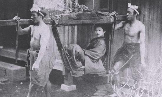 老照片:日本古代出行工具