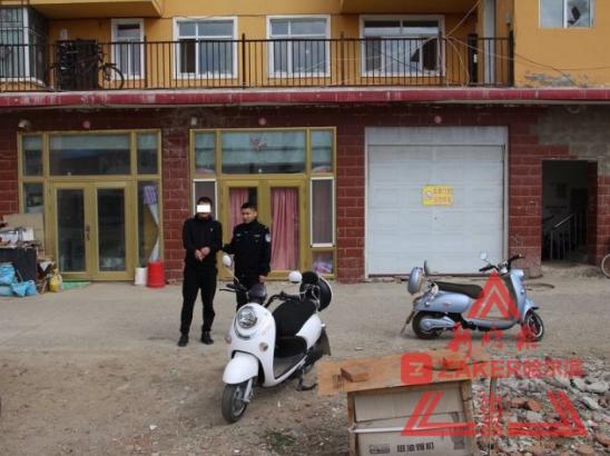 小区一夜俩摩托车被盗 民警循迹抓获租车异地作案贼