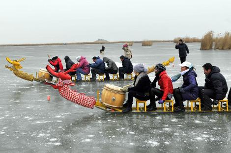 黑龙江省大众冰上龙舟公开赛