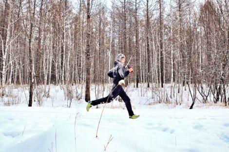 雪地迷你马拉松