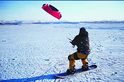 全国极限风筝滑雪邀请赛