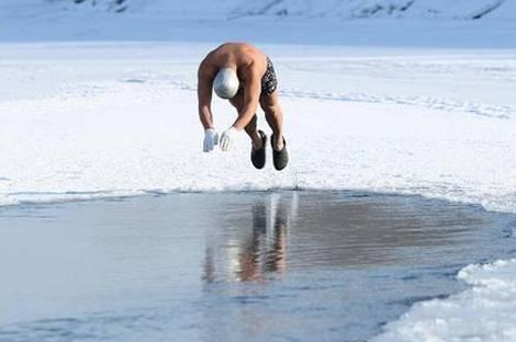 黑龙江省冬泳表演赛
