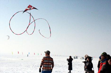 黑龙江省雪地风筝邀请赛