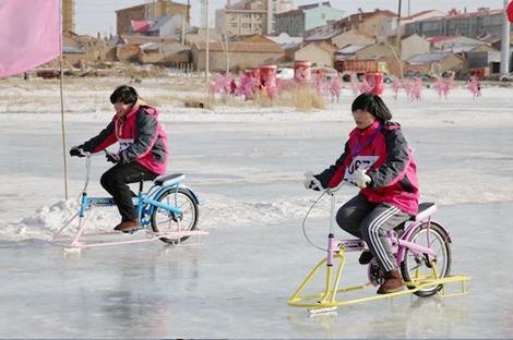 黑龙江冰上趣味项目大比拼