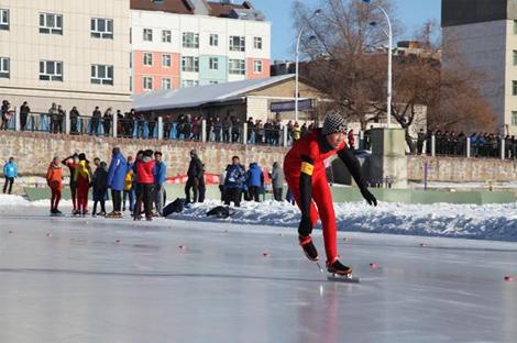 黑龙江省传统项目学校速度滑冰比赛