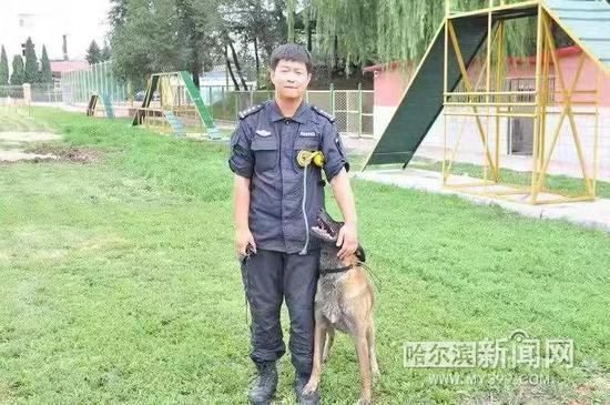 哈尔滨警犬全国赛场勇夺单项第一 2分22秒找到目标