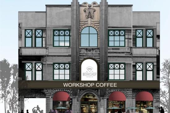 拟导入业态为犹太餐厅、手工咖啡坊。