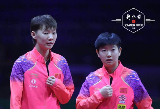 28 日,王曼昱还将和孙颖莎搭档,与陈梦 / 朱玉玲组合展开女双半决赛的比赛。