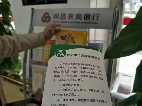 润昌农商行贷款申请条件。