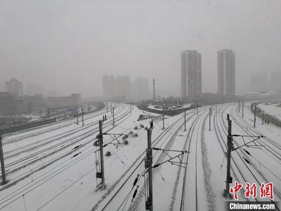 11月19日,黑龙江省迎来今年入冬以来最大降雪。 姜辉 摄