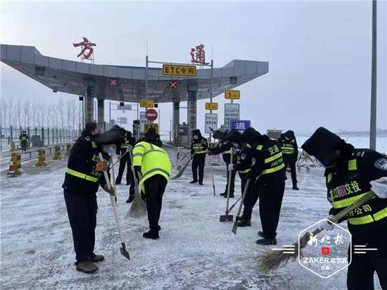 防疫除雪两不误 黑龙江高速公路部门全力保畅通