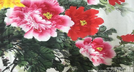 国画牡丹宝瑞源书画技法入门图片