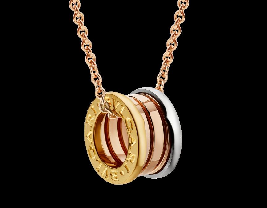 Bvlgari/宝格丽项链经典款B.Zero118K黄金弹簧项链吊坠价格 $21400-图片