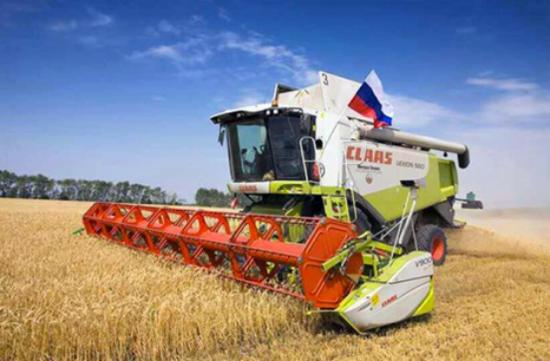 (俄罗斯小麦种植区域收获期场景)