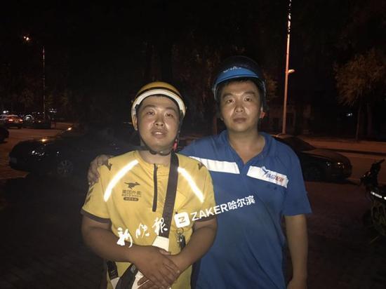 ↑ 赵强(左)和王博(右)
