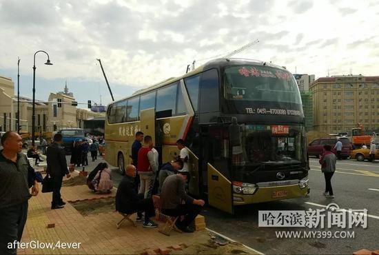 哈尔滨机场大巴移至哈站北广场 附新增加的公交线路