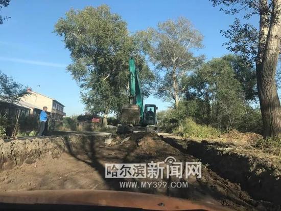 江北中环路大修工程——道路开槽施工