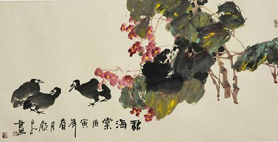 中国大写意花鸟画代表人物——颜泉