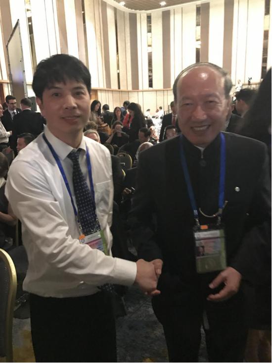 贵伊族董事长苏士正与海航集团董事长陈峰